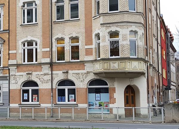 Das Büro des Stadtjugendwerkes von außen